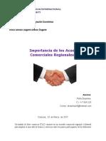 Importancia de Los Acuerdos Comerciales y Regionales