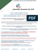 November 4 Th Blueprint Lesson 6