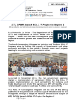 03_03_2017 Rog-010nr Dti, Dpwh Launch Roll It Project in Region 1