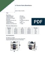 Ficha Tecnica Variac Monofasico