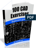 100 ejercicios cad + .pdf