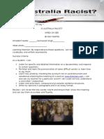 is australia racist part 1 worksheet prepared by mr nej