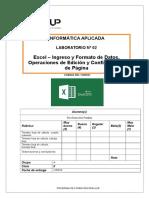 Lab 02 - Excel 2013 - Ingreso y Formato de Datos Operaciones de Edición y Configuración de Páginae