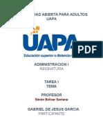 331488787 Tarea 1 Administracion 1 Uapa