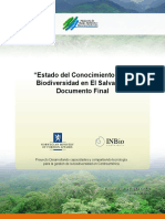 Estado de Conocimeointo de La Biodiversidad de El Salvador