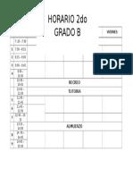 Formato de horario 2017
