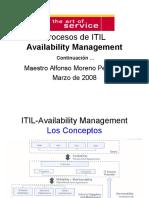 Procesos de ITIL Availability Cont I