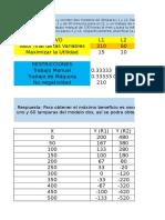 Ejercicios de Programación Lineal Con Solver en Excel. David Gómez