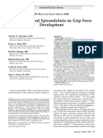 Effect of Lateral Epicondylosis on Grip Force
