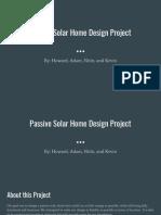 passive solar home design project