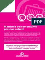 4-Matrícula Comerciante Persona Natural