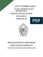 Kinesiologi Dan Biomekanika II