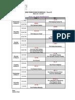 End-Term Exam Schedule - Term III 2016-18