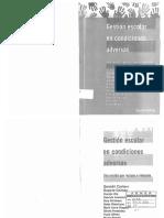 Cantero-Celman_Gestion Escolar en Condiciones Adversas