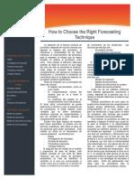 206060225 Como Elegir La Tecnica Correcta Para Hacer Un Pronostico Docx