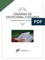 Caderno de Devocional e Estudo Com Capa