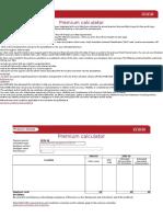Insurance Premium Calculator 2015 16