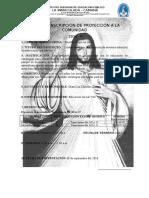 Ficha de Inscripción de Proyección a La Comunidad