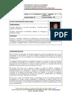 Plan de Curso Epistemología de la investigacion educativa