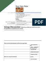 pizza webercise