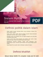 Sistem Kehidupan Dalam Islam