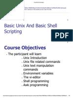 Basics in Unix
