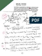 EAS207 Final Exam Solution 2015