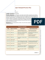 Volleyball Practice Plan Template