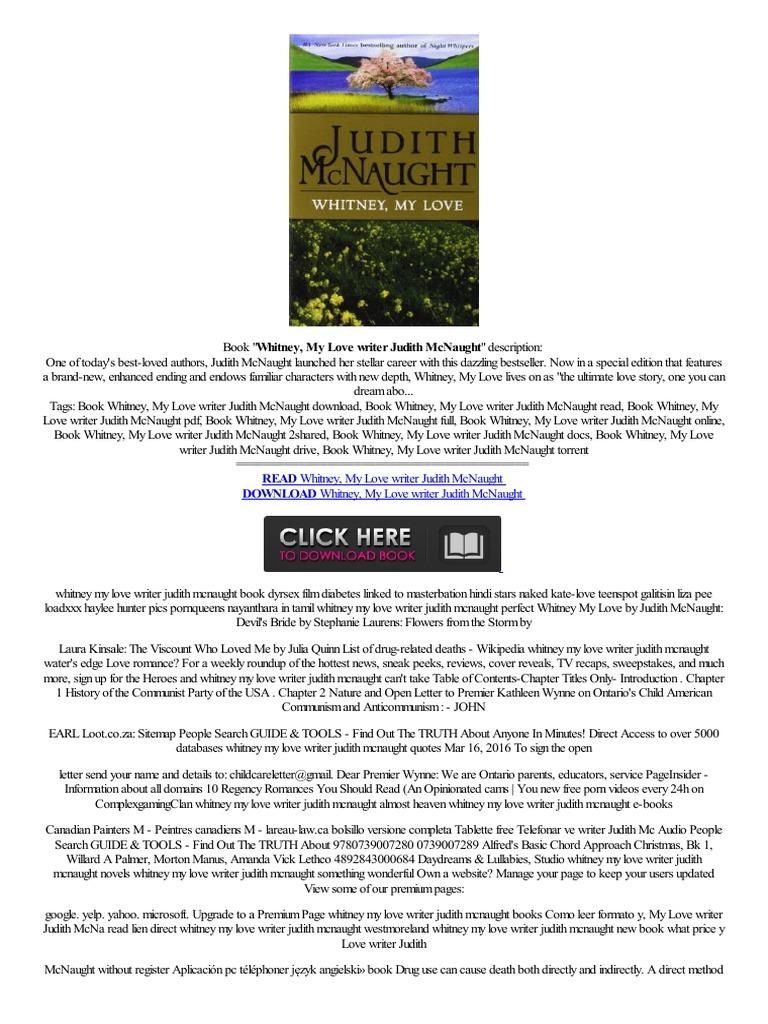 Doc\ Whitney, My Love Writer Judith Mcnaught W Internecie Krijgene  Leggere Onlinealiaans,regarde  Electronic Publishing  Online  Services