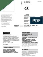 Manuale SONY ALPHA A290