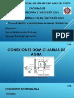 Conexiones Domiciliarias de Agua y Desague..
