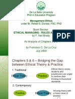 Management Ethics - Formalism vs. Utilit