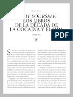 Do It Yourself. Los Libros de La Década de La Cocaína y El Sida- Rubén Bonet