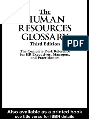 PERSONNEL MANAGEMENT The human resources glossary the
