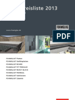 DFG Building Nettopreisliste 2013