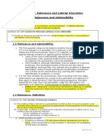 Criminal Procedure Evidence - Relevance & Admissibility