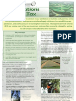Plantations and Tax Fact Sheet