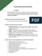 FAQ NPS-Corp Model