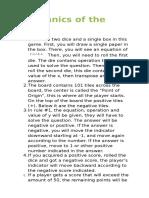 Mechanics of the Game