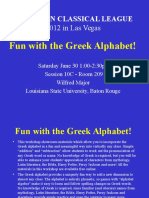 Fun With the Greek Alphabet