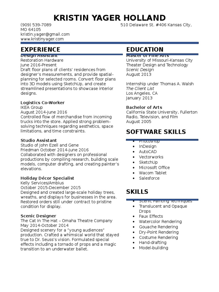 khollandresume2017 | Paintings | Technology