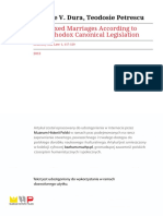 N. DURĂ - The Mixed Marriages According to the Orthodox Canonical Legislation (2013)