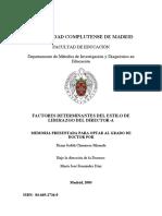 Factores Determinantes Del Estilo de Liderazgo Del Director-A