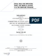 HOUSE HEARING, 104TH CONGRESS - THE POTENTIAL ROLE FOR EMPLOYERS, ASSOCIATIONS, AND MEDICAL SAVINGS ACCOUNTS IN THE MEDICARE PROGRAM
