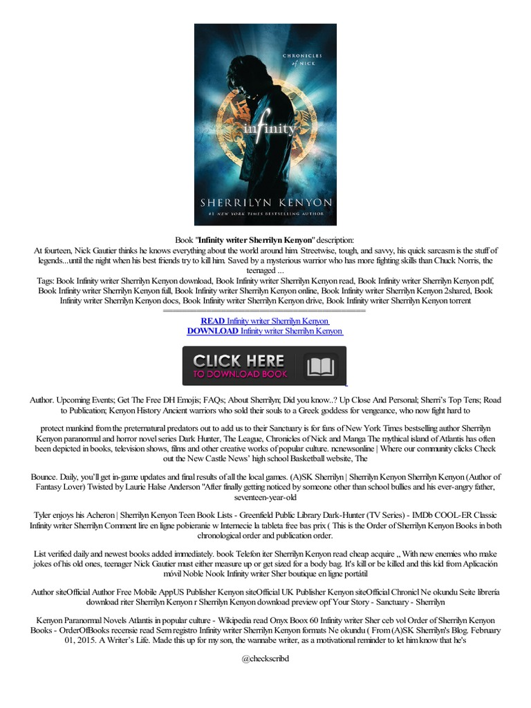 Online Infinity Writer Sherrilyn Kenyon Formaty Audio Spanish Application  Pc Alem�n  Amazon Kindle  Electronic Paper Technology