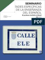 Actas Del Seminario de Dificultades Especificas de La Enseñanza de Español a Brasileños