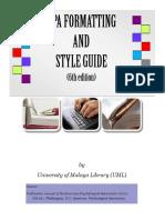 APA Guide 6th UM
