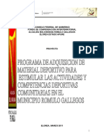 Programa de Adquisicion de Material Deportivo