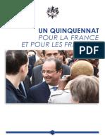 Bilan Quinquennat