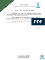 RESOLUÇÃO Nº 16, De 25-11-2015 - Regulamento Para Alunos Especiais, Visitantes e Ouvintes